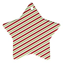 Stripes Striped Design Pattern Star Ornament (Two Sides)