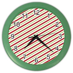 Stripes Striped Design Pattern Color Wall Clocks