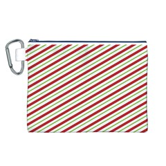Stripes Striped Design Pattern Canvas Cosmetic Bag (l)