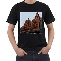 Store Harrods London Men s T-Shirt (Black) (Two Sided)