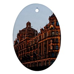 Store Harrods London Oval Ornament (Two Sides)
