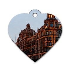 Store Harrods London Dog Tag Heart (Two Sides)