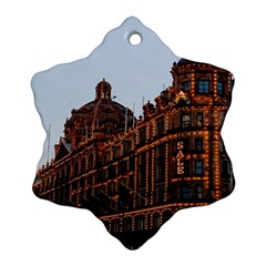 Store Harrods London Snowflake Ornament (Two Sides)