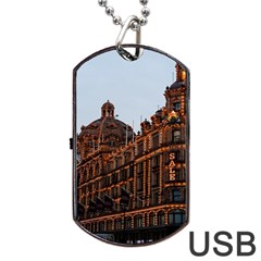 Store Harrods London Dog Tag USB Flash (Two Sides)