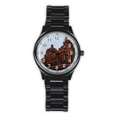 Store Harrods London Stainless Steel Round Watch