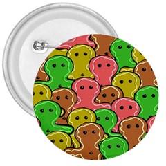 Sweet Dessert Food Gingerbread Men 3  Buttons