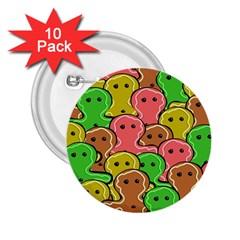 Sweet Dessert Food Gingerbread Men 2 25  Buttons (10 Pack)