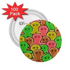Sweet Dessert Food Gingerbread Men 2 25  Buttons (100 Pack)