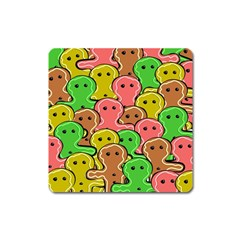 Sweet Dessert Food Gingerbread Men Square Magnet