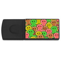 Sweet Dessert Food Gingerbread Men USB Flash Drive Rectangular (2 GB)