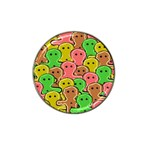 Sweet Dessert Food Gingerbread Men Hat Clip Ball Marker Front