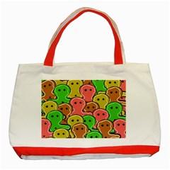 Sweet Dessert Food Gingerbread Men Classic Tote Bag (red)