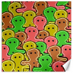 Sweet Dessert Food Gingerbread Men Canvas 16  x 16