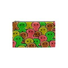 Sweet Dessert Food Gingerbread Men Cosmetic Bag (Small)