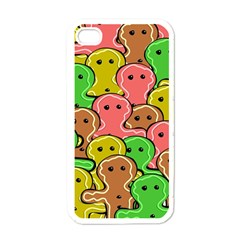 Sweet Dessert Food Gingerbread Men Apple iPhone 4 Case (White)