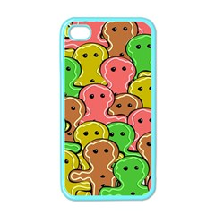 Sweet Dessert Food Gingerbread Men Apple iPhone 4 Case (Color)