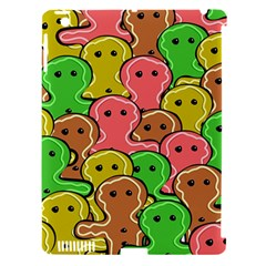 Sweet Dessert Food Gingerbread Men Apple Ipad 3/4 Hardshell Case (compatible With Smart Cover)