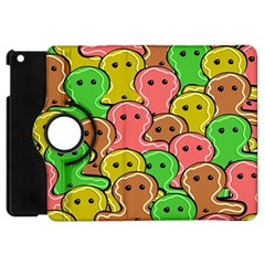 Sweet Dessert Food Gingerbread Men Apple Ipad Mini Flip 360 Case