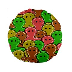 Sweet Dessert Food Gingerbread Men Standard 15  Premium Round Cushions