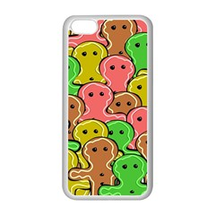 Sweet Dessert Food Gingerbread Men Apple Iphone 5c Seamless Case (white)