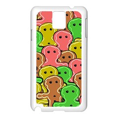 Sweet Dessert Food Gingerbread Men Samsung Galaxy Note 3 N9005 Case (white)