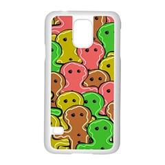 Sweet Dessert Food Gingerbread Men Samsung Galaxy S5 Case (white)