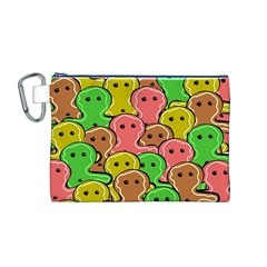 Sweet Dessert Food Gingerbread Men Canvas Cosmetic Bag (m)