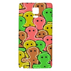 Sweet Dessert Food Gingerbread Men Galaxy Note 4 Back Case