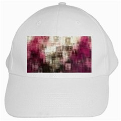 Stylized Rose Pattern Paper, Cream And Black White Cap