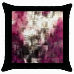 Stylized Rose Pattern Paper, Cream And Black Throw Pillow Case (black)