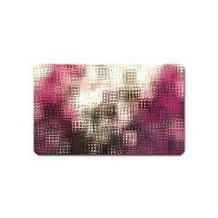 Stylized Rose Pattern Paper, Cream And Black Magnet (Name Card)