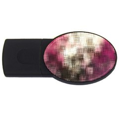 Stylized Rose Pattern Paper, Cream And Black Usb Flash Drive Oval (2 Gb)