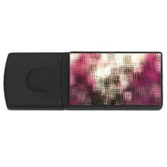 Stylized Rose Pattern Paper, Cream And Black USB Flash Drive Rectangular (1 GB)