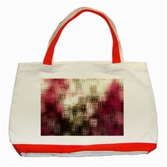 Stylized Rose Pattern Paper, Cream And Black Classic Tote Bag (red)