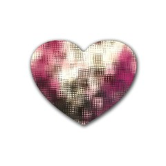 Stylized Rose Pattern Paper, Cream And Black Heart Coaster (4 pack)