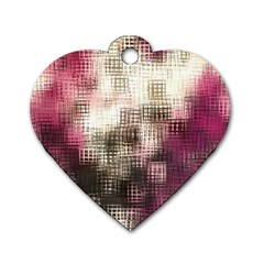 Stylized Rose Pattern Paper, Cream And Black Dog Tag Heart (one Side)