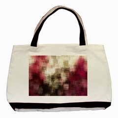 Stylized Rose Pattern Paper, Cream And Black Basic Tote Bag (Two Sides)