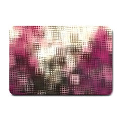 Stylized Rose Pattern Paper, Cream And Black Small Doormat