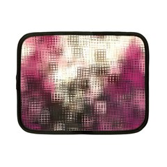 Stylized Rose Pattern Paper, Cream And Black Netbook Case (small)