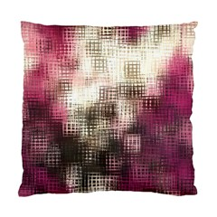 Stylized Rose Pattern Paper, Cream And Black Standard Cushion Case (One Side)