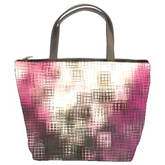 Stylized Rose Pattern Paper, Cream And Black Bucket Bags