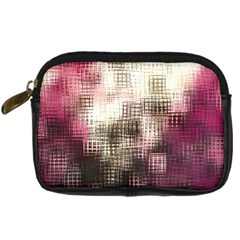 Stylized Rose Pattern Paper, Cream And Black Digital Camera Cases