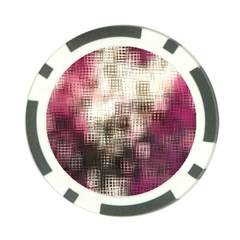 Stylized Rose Pattern Paper, Cream And Black Poker Chip Card Guard (10 Pack)