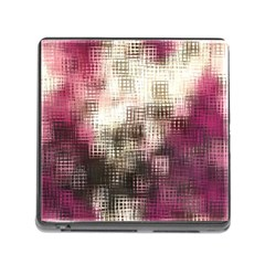 Stylized Rose Pattern Paper, Cream And Black Memory Card Reader (Square)
