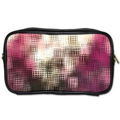 Stylized Rose Pattern Paper, Cream And Black Toiletries Bags 2-Side