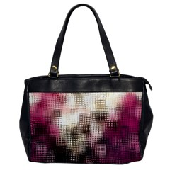 Stylized Rose Pattern Paper, Cream And Black Office Handbags