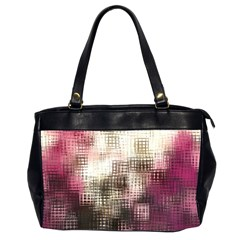 Stylized Rose Pattern Paper, Cream And Black Office Handbags (2 Sides)