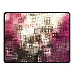 Stylized Rose Pattern Paper, Cream And Black Fleece Blanket (Small)