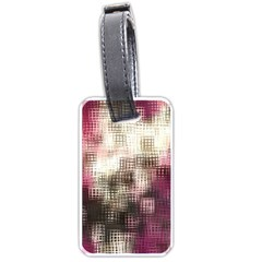 Stylized Rose Pattern Paper, Cream And Black Luggage Tags (one Side)