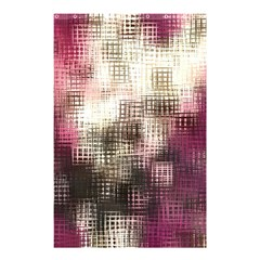 Stylized Rose Pattern Paper, Cream And Black Shower Curtain 48  x 72  (Small)